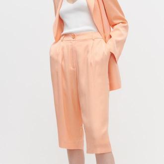 Reserved - Szorty za kolano - Pomarańczowy