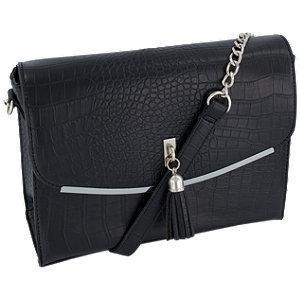 Czarna torebka damska Graceland na pasku z łańcuszkiem