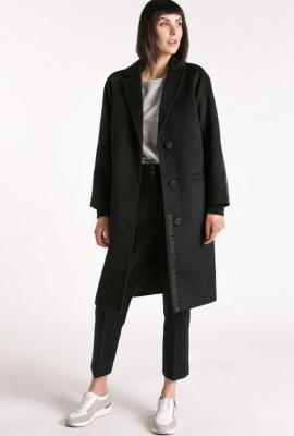 Wełniany płaszcz z logo Monnari - Zdjęcie 1