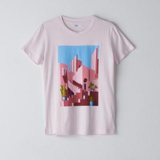 Cropp - Koszulka z krótkim rękawem - Fioletowy