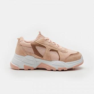 Sinsay - Sneakersy z siateczką mesh - Różowy