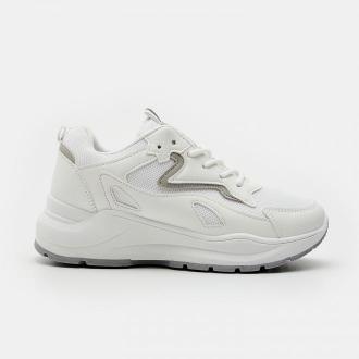 Sinsay - Białe sneakersy - Biały
