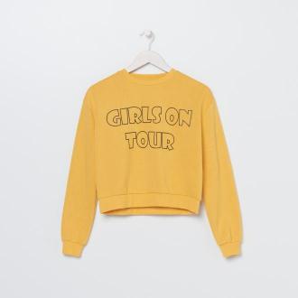 Sinsay - Bluza z napisem - Żółty