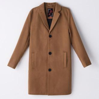 Cropp - Gładki płaszcz - Beżowy