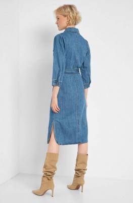 Jeansowa sukienka z wiązaniem