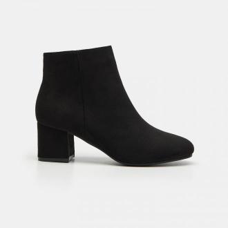 Sinsay - Czarne botki na obcasie - Czarny