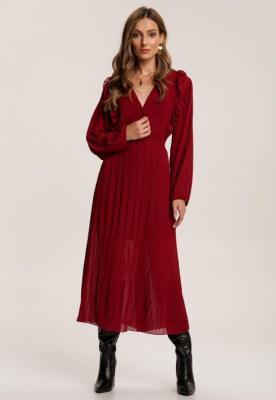 Bordowa Sukienka Feltyse