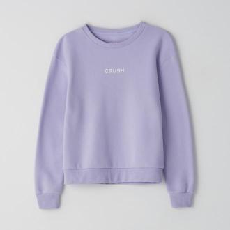 Cropp - Bluza z napisem - Fioletowy