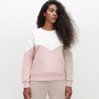 Reserved - Bluza w bloki kolorów - Różowy