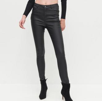Reserved - Woskowane spodnie - Czarny