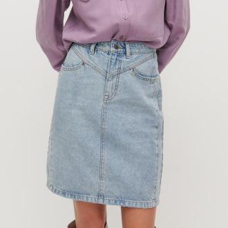 Reserved - Jeansowa spódnica - Niebieski
