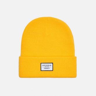 Cropp - Czapka z naszywką - Żółty