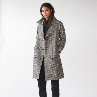 Sinsay - Długi płaszcz w pepitkę - Wielobarwny