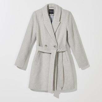 Mohito - Klasyczny płaszcz z wełną - Jasny szary