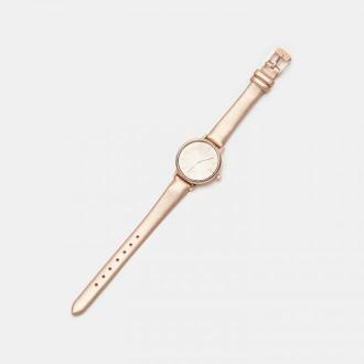 Sinsay - Zegarek ze złotym paskiem - Brązowy