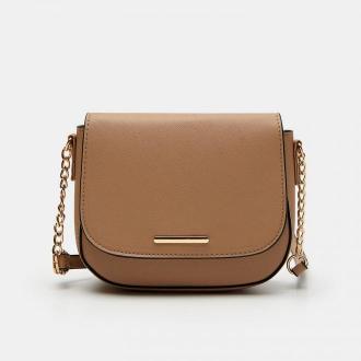 Sinsay - Mała torebka na regulowanym pasku - Beżowy