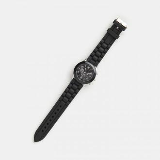Sinsay - Zegarek z silikonowym paskiem - Czarny
