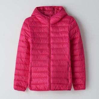Cropp - Pikowana kurtka z kapturem - Różowy