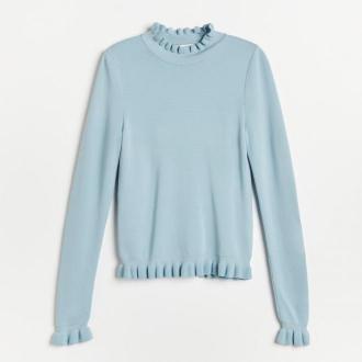 Reserved - Sweter z golfem - Niebieski