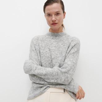 Reserved - Sweter z półgolfem - Jasny szary