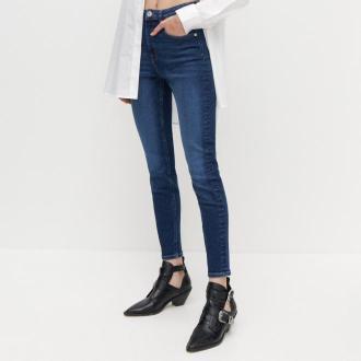 Reserved - Jeansy slim z wysokim stanem - Granatowy