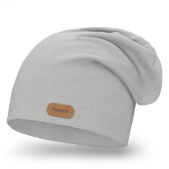 Bawełniana czapka w kolorze jasnoszarym - Zdjęcie 1