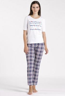 Góra od piżamy z wzorem w serca - Zdjęcie 1