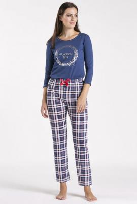 Dół od piżamy w kratę - Zdjęcie 1