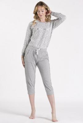 Dół od piżamy z ozdobnymi wstawkami - Zdjęcie 1
