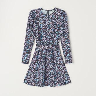 Mohito - Wzorzysta sukienka z paskiem - Czarny