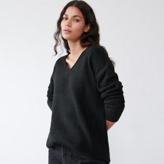 Sinsay - Gładki sweter oversize - Czarny