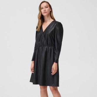 Mohito - Sukienka z imitacji skóry - Czarny