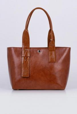 Wizytowa torba z ozdobną klamrą - Zdjęcie 1