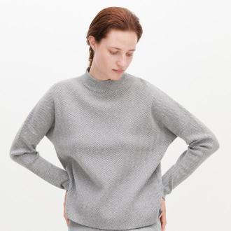 Reserved - Sweter w jodełkę - Wielobarwny - Zdjęcie 1