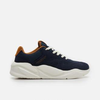 Cropp - Sneakersy z kontrastującą podeszwą - Granatowy