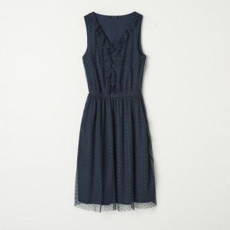 Mohito - Sukienka z falbanką - Niebieski
