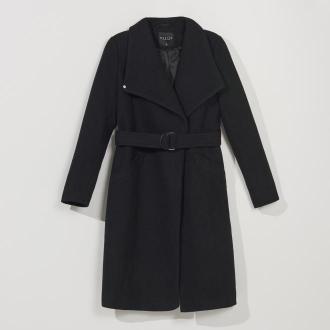 Mohito - Klasyczny płaszcz z domieszką wełny - Czarny