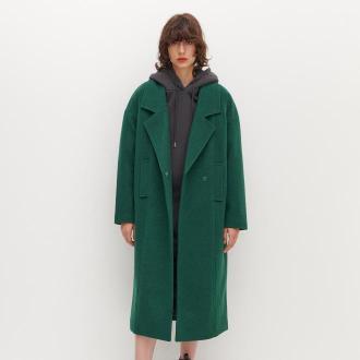 Reserved - Płaszcz o prostym kroju - Zielony
