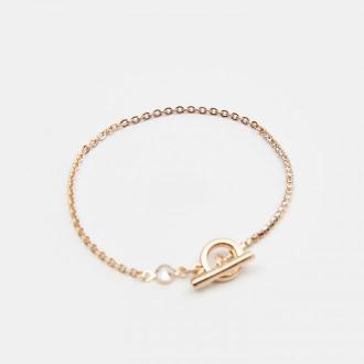 Mohito - Łańcuszkowa bransoletka z cyrkoniami - Złoty