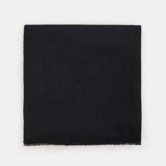Mohito - Dzianinowy szalik z ozdobnymi koralikami - Czarny
