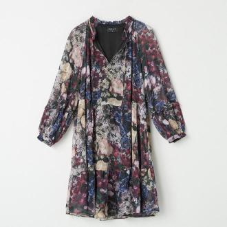 Mohito - Wzorzysta sukienka z wiązaniem - Wielobarwny