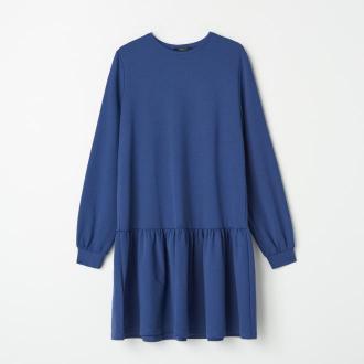 Mohito - Sukienka oversize z bawełną - Niebieski