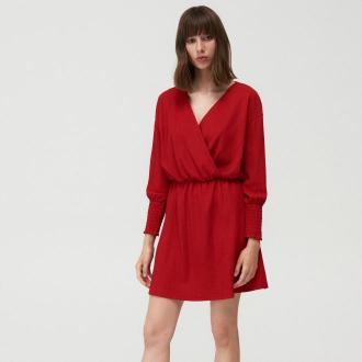 Mohito - Kopertowa sukienka - Czerwony