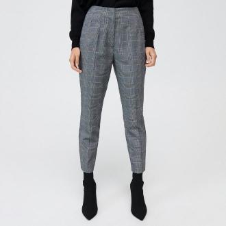 Mohito - Spodnie cygaretki w kratkę - Szary