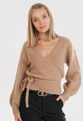 Ciemnobeżowy Sweter Wylineth - Zdjęcie 1