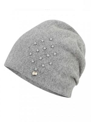 Ciepła czapka z ozdobnym wzorem Potis & Verso