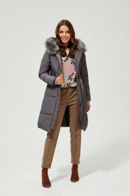 Płaszcz z futerkiem - Zdjęcie 1
