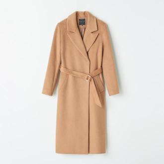 Mohito - Klasyczny płaszcz z wełną - Brązowy
