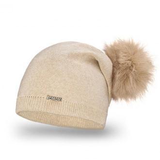 Przedłużana czapka damska z pomponem - Zdjęcie 1