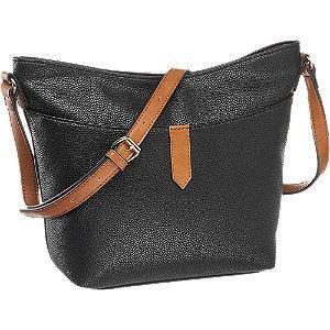 Czarna torebka damska Graceland na brązowym pasku